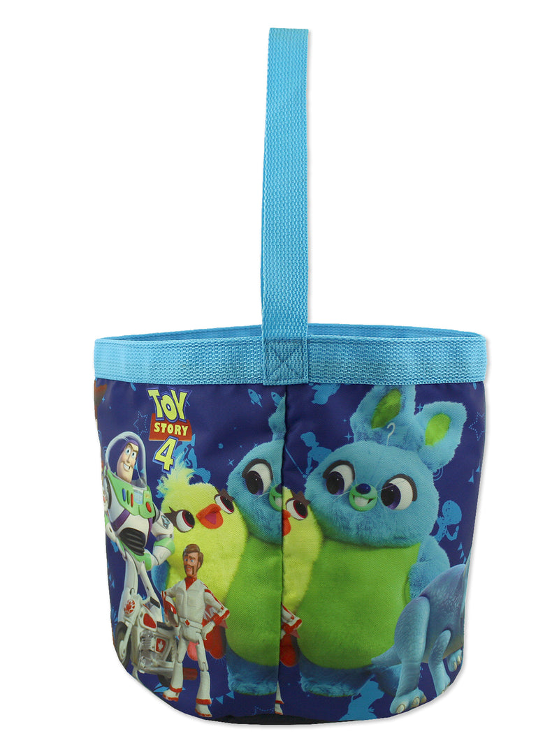 Toy Story 4 Boys Girls Collapsible Nylon Gift Basket Bucket Toy Storage Tote Bag