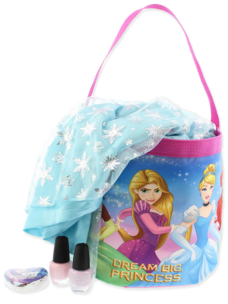 Disney Princess Girls Collapsible Nylon Halloween Bucket Toy Storage Gift Tote Bag