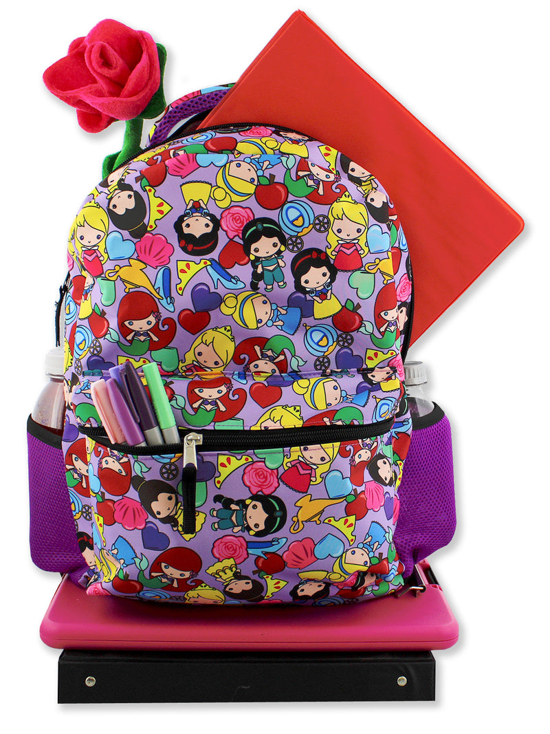 Disney Princess Emoji Girl's 16 Inch School Backpack Bag