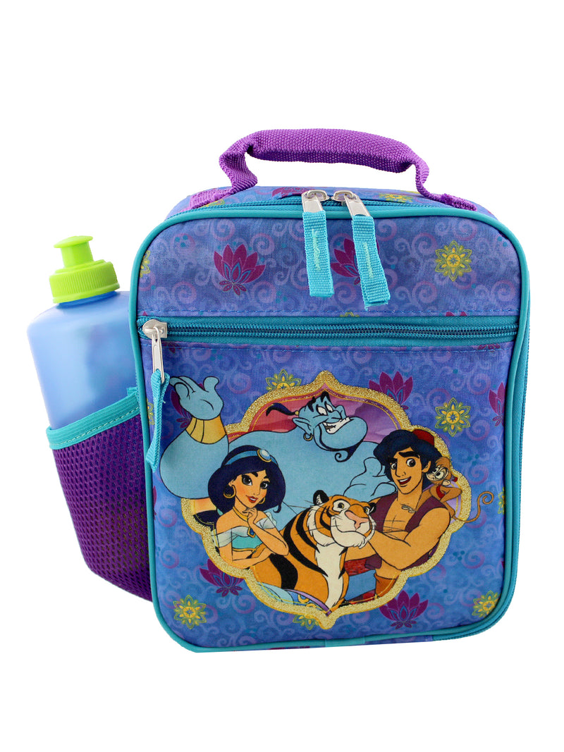 Disney Aladdin Princess Jasmine Girls Boys Soft Insulated School Lunch Box