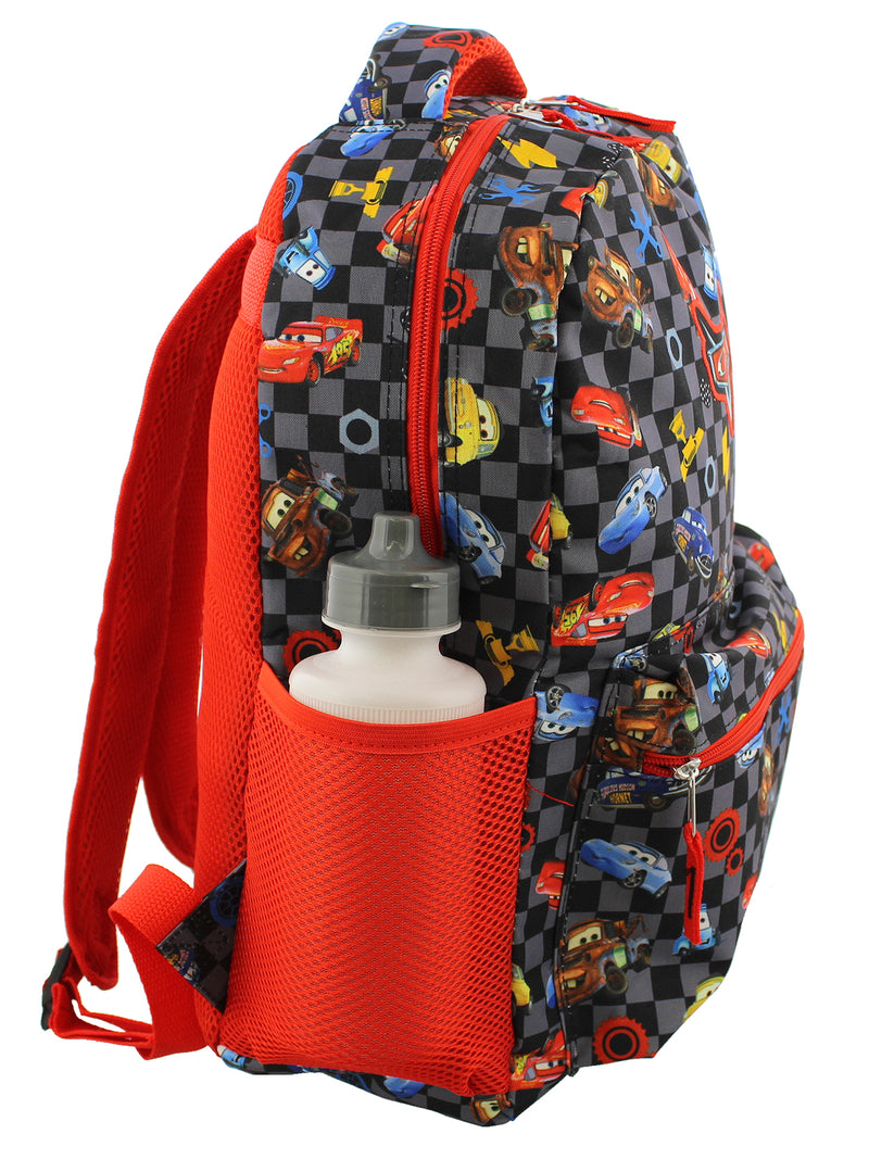 Disney Cars Boy's Girl's 16 Inch School Backpack Bag Lightning McQueen Mater