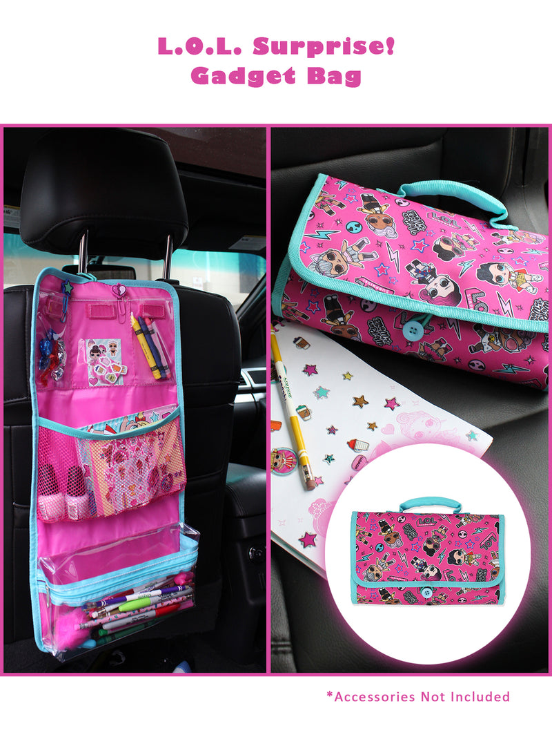 L.O.L. Surprise! Girl's Tri-fold Multipurpose Collectible Toy Storage Accessory Toiletry Travel Bag Case