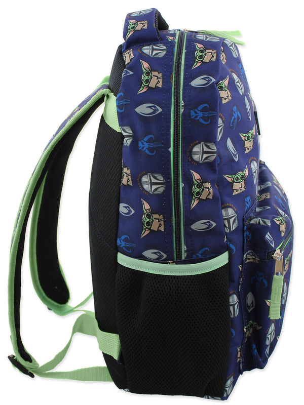 Star Wars Mandalorian Baby Yoda Boy's Girl's Adult 16 Inch School Backpack