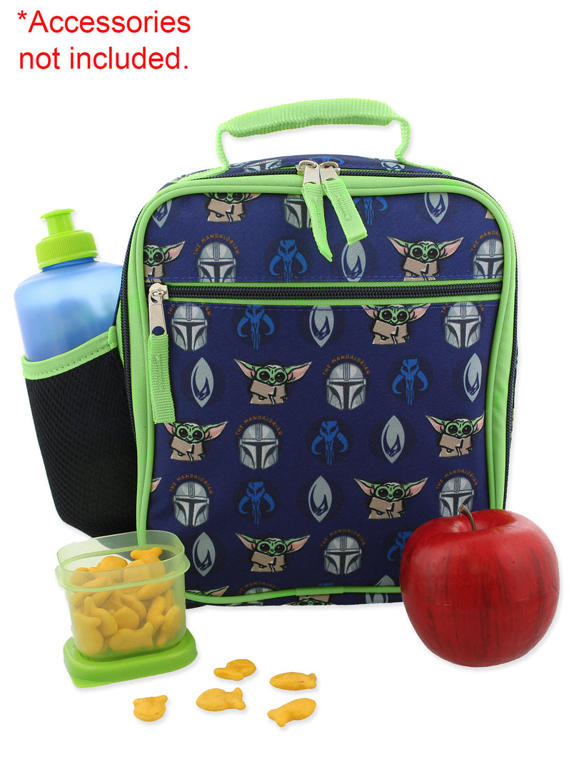 Star Wars Mandalorian Baby Yoda Boy's Girl's Adult Soft Insulated School Lunch Box