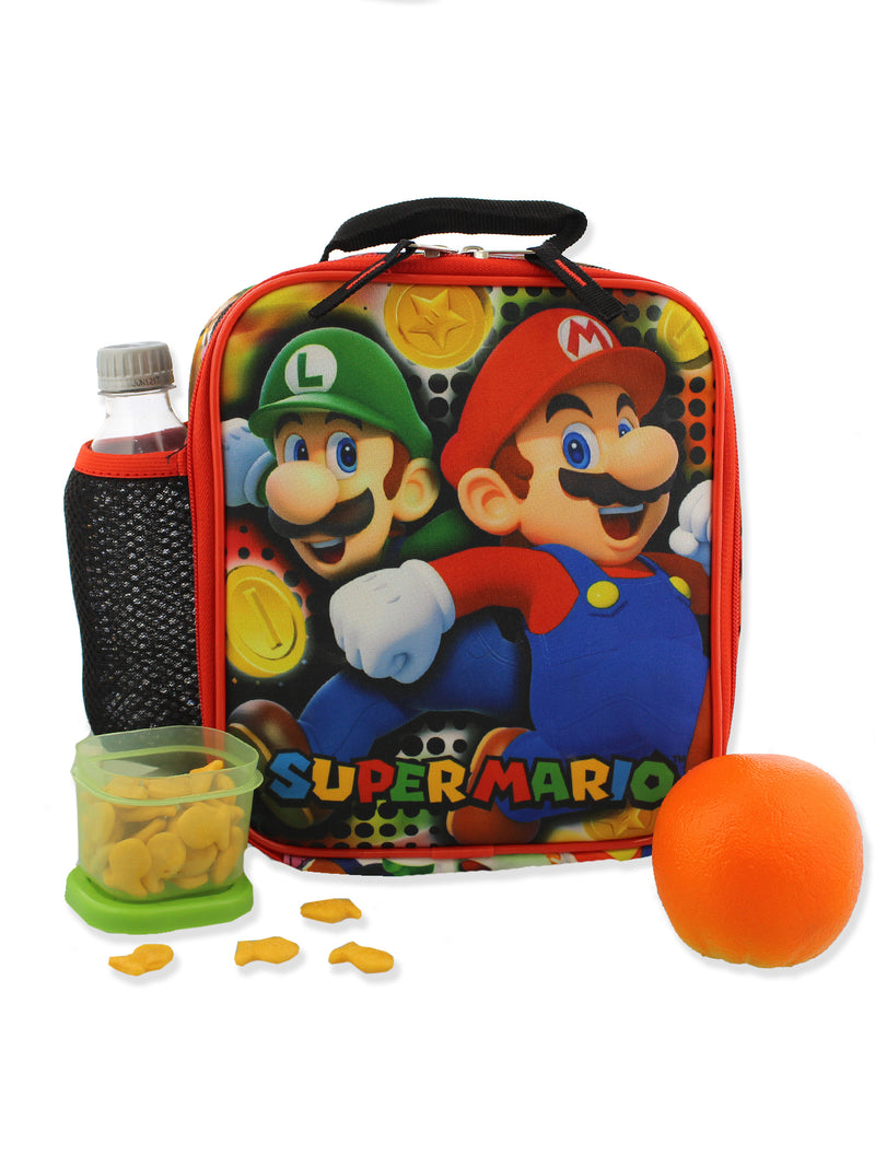 Super Mario Bros Boy's Girl's Soft Insulated School Lunch Box