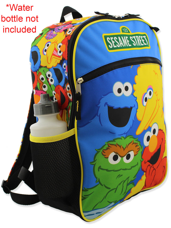 Sesame Street Boys Girls 5 piece Backpack Lunch Bag and Snack Bag School Set