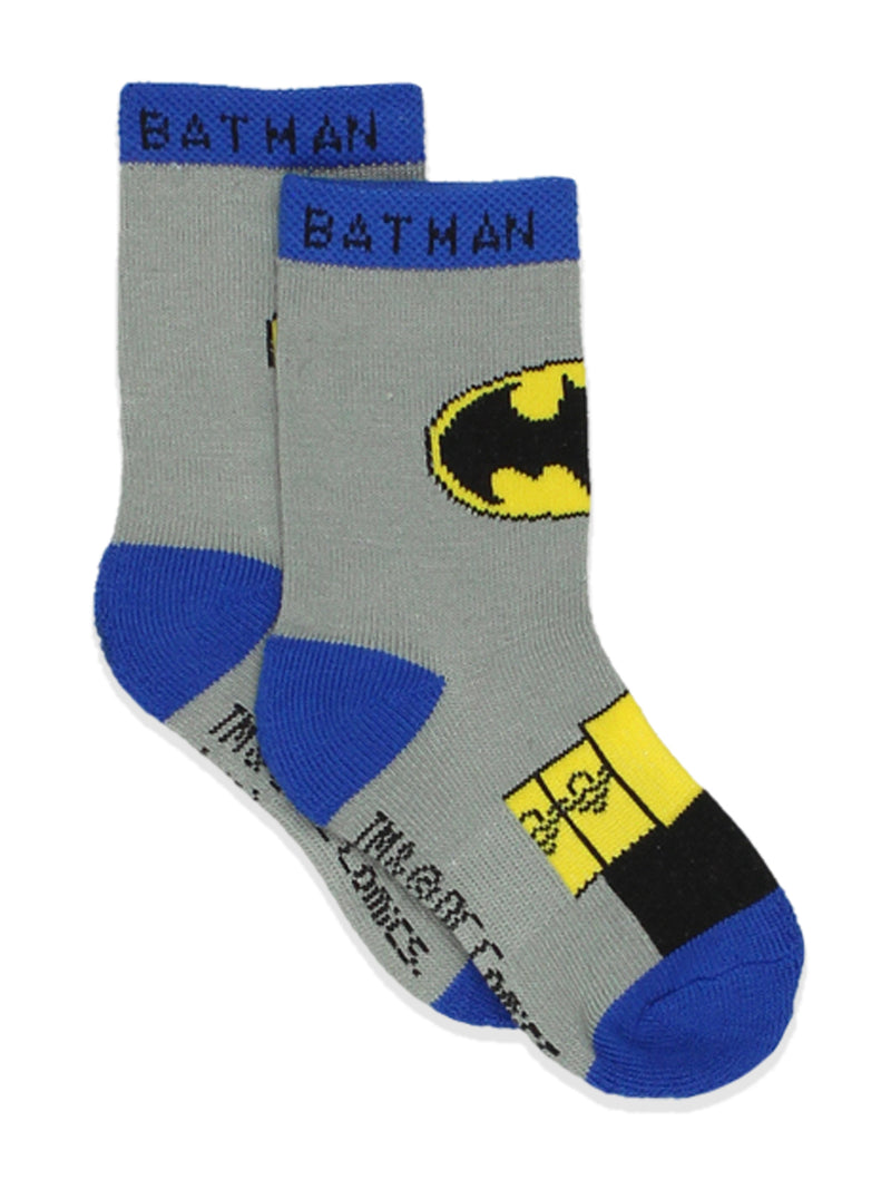 Batman Justice League Toddler Baby Boy's 6 pack Athletic Crew Socks