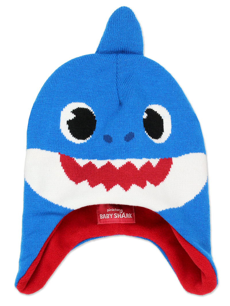 Baby Shark Toddler Boys Girls Winter Beanie Hat and Mittens Set