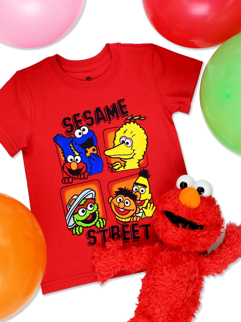 Sesame Street Gang Baby Toddler Boy's Girl's Short Sleeve T-Shirt Tee