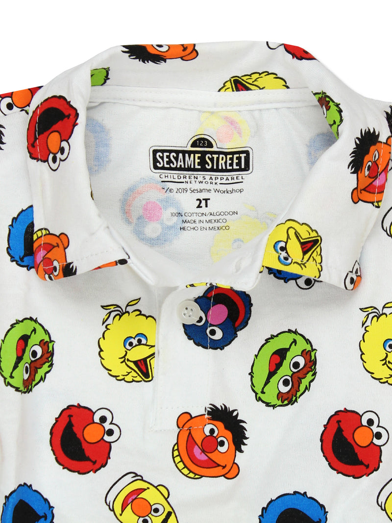Sesame Street Gang Elmo Boys Baby Toddler Polo Collared Shirt