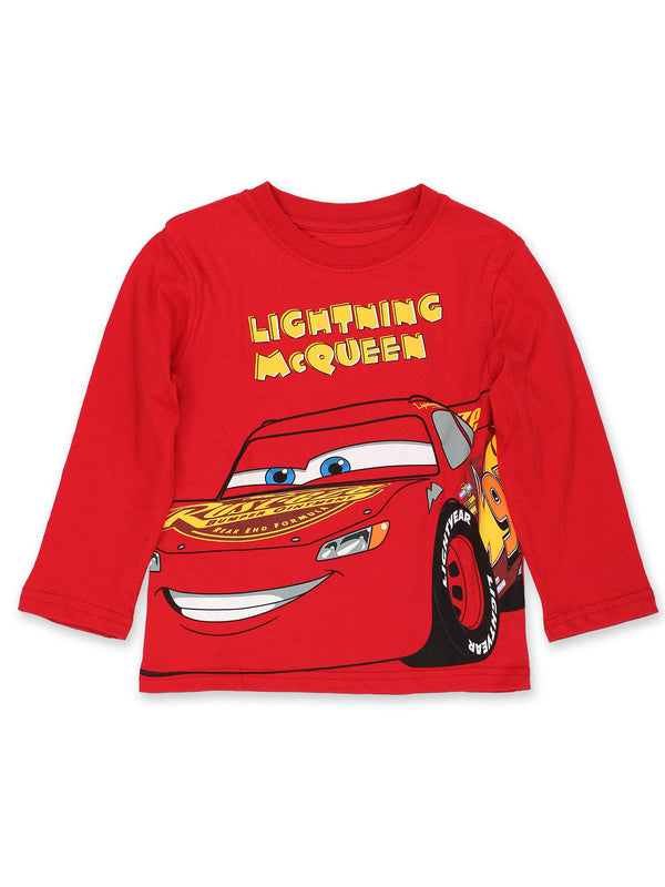 Disney Cars Lightning McQueen Toddler Boys Long Sleeve T-Shirt Tee