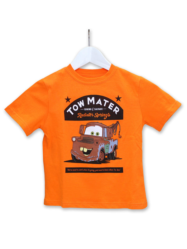 Disney Cars Tow Mater Toddler Boys Short Sleeve T-Shirt Tee