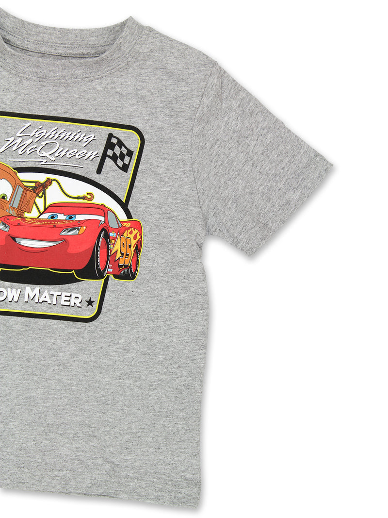 Disney Cars McQueen Tow Mater Toddler Boys Short Sleeve T-Shirt Tee