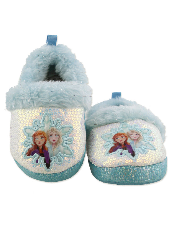 Disney Frozen 2 Elsa Anna Girls Toddler Plush A-Line Slippers