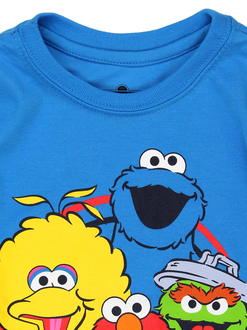 Sesame Street Gang Elmo Baby Toddler Boys Long Sleeve T-Shirt