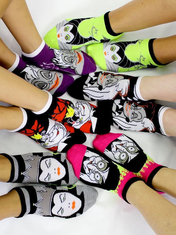 Disney Villains Girls Teen Womens 6 pack Socks (Little Kid/Big Kid/Teen/Adult)