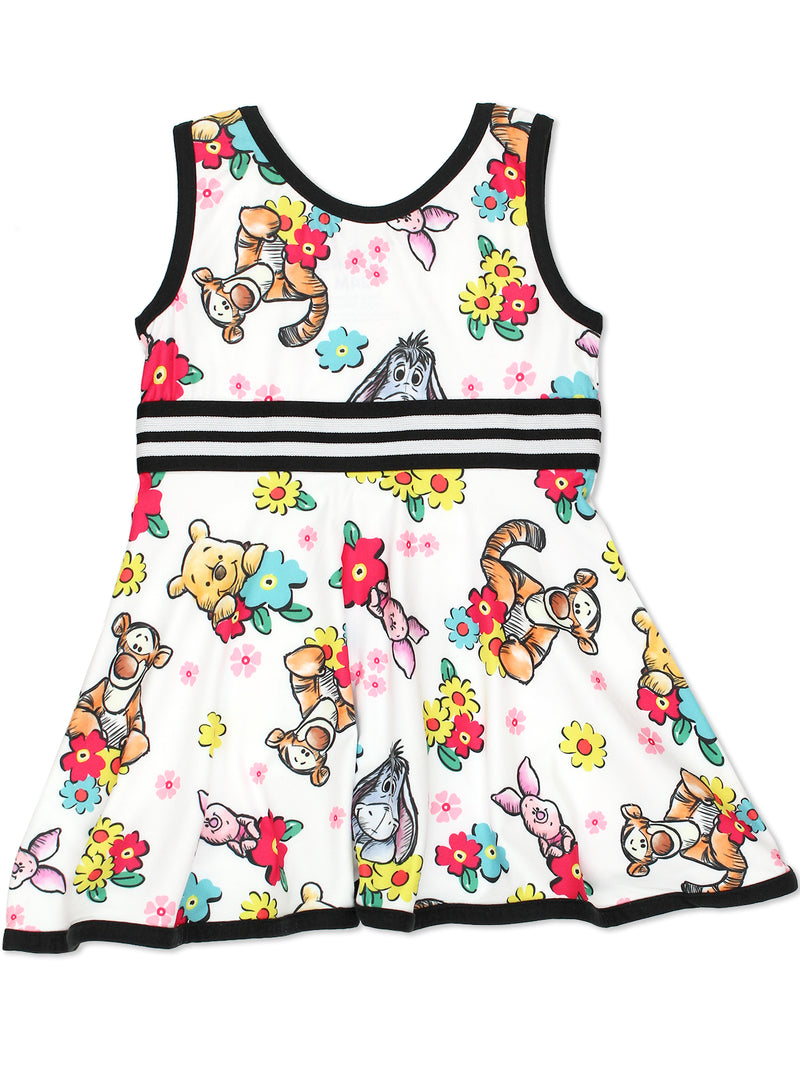 Winnie The Pooh Toddler Girls Fit and Flare Ultra Soft Dress
