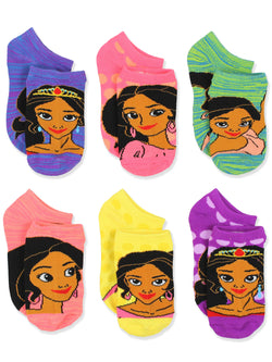 Princess Elena of Avalor Girls Toddler 6 pack Socks Set