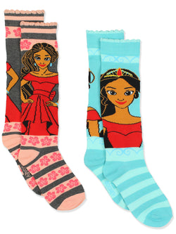Princess Elena of Avalor Girls 2 pack Knee High Socks Set