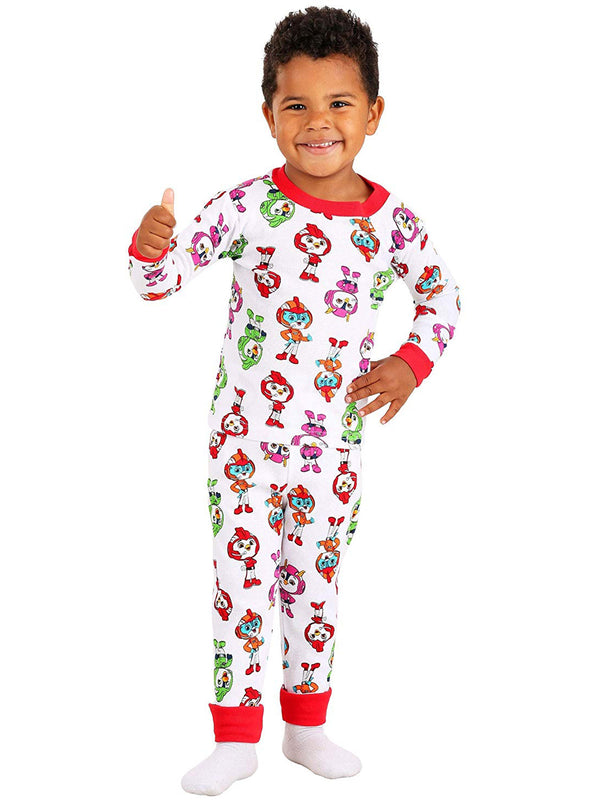 Top Wing Toddler Boy's 2fer 4 Piece Long Sleeve Pajamas Set