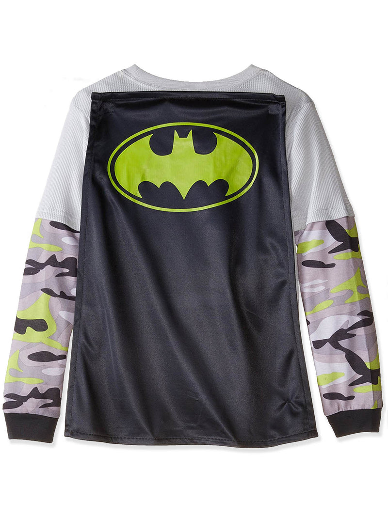 Batman Boys Top with Flannel Pants and Cape Pajamas Set