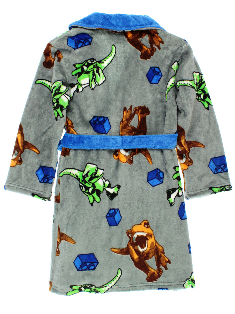Lego Jurassic World Dinosaur Boys Fleece Bathrobe Robe