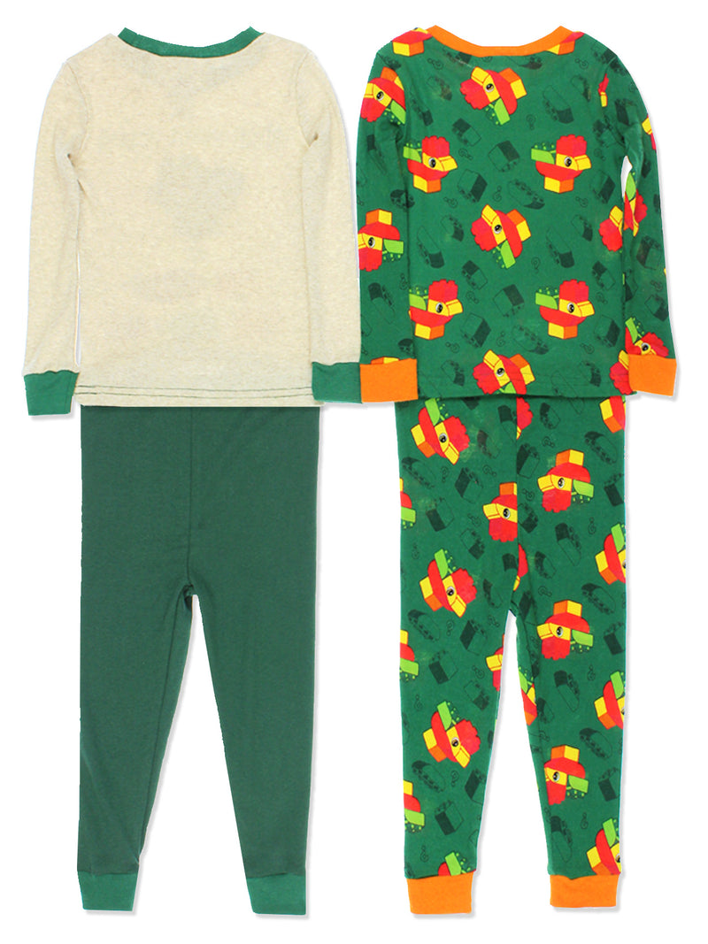 Lego Duplo Chicken Toddler Boys 2fer 4 piece Long Sleeve Cotton Pajamas Set