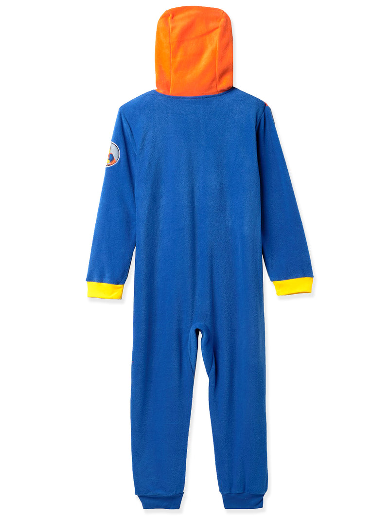 Lego Movie 2 The Second Part Boys Emmet Micro Fleece Hooded Union Suit Pajamas
