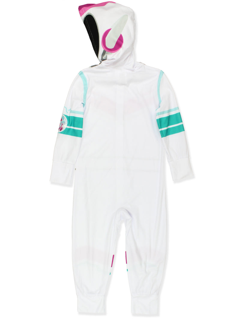 Lego Movie 2 The Second Part Girls Micro Fleece Hooded Union Suit Pajamas