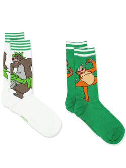 The Jungle Book Teen Adult 2 pack Crew Socks Set