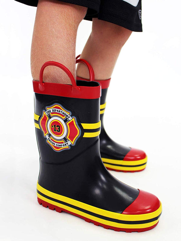 Fireman Firefighter Boys Girls Toddler Costume Style Rain Boots