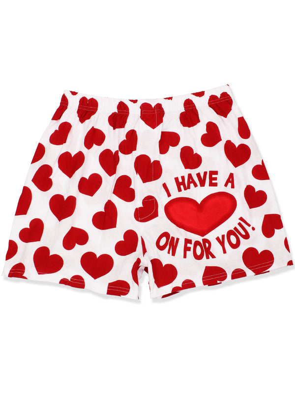 Briefly Stated 'I Have a Heart On For You' Men's Boxer Shorts Underwear