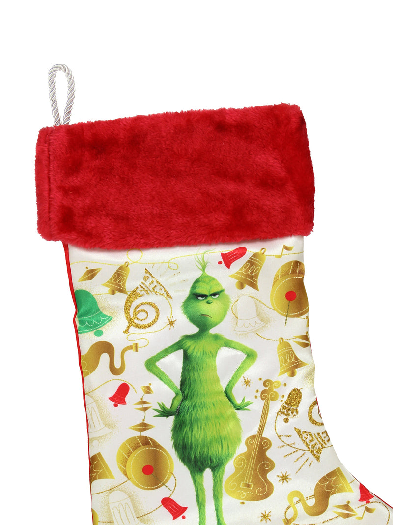 Kurt Adler The Grinch Printed Stocking with Red Cuff Home Décor