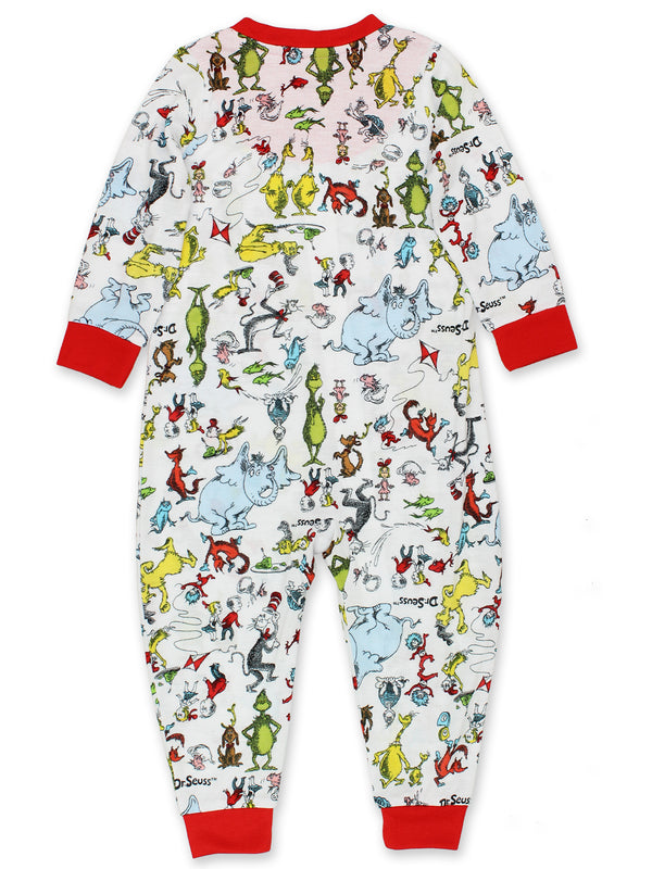 Dr. Seuss Grinch Cat in the Hat Infant Toddler Footless Sleeper Pajamas