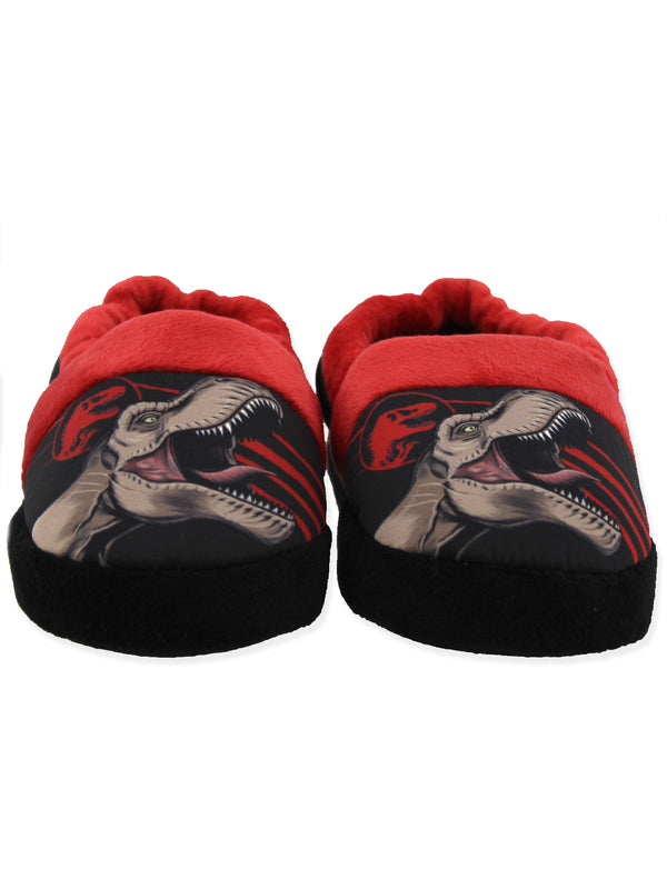 Jurassic World Dinosaurs Boy's Toddler Plush Aline Slippers