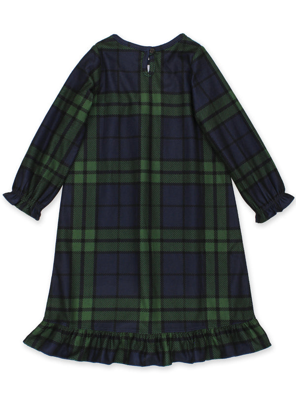 Komar Kids Toddler Girls Blue Green Plaid Christmas Holiday Nightgown Pajamas