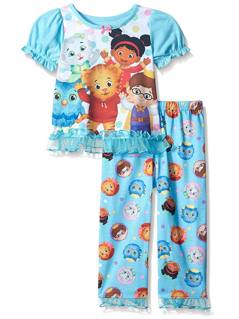 Daniel Tiger Toddler Girls Short Sleeve Poly Pajama Set