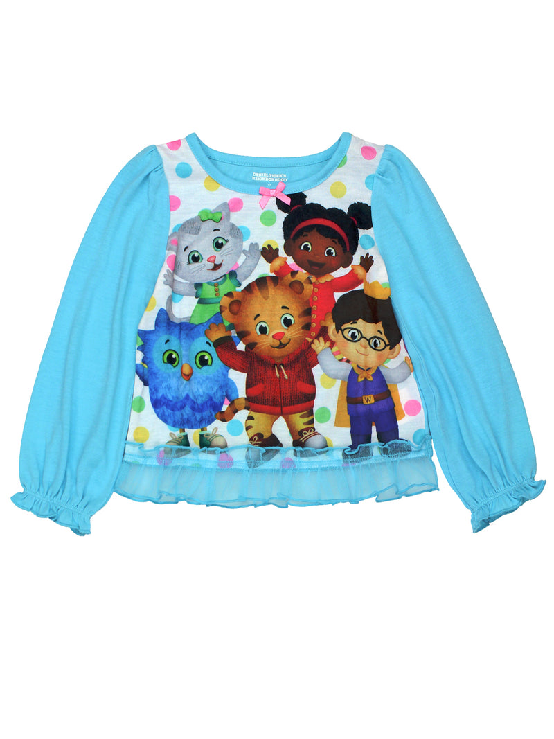 Daniel Tiger Toddler Girls Long Sleeve Poly Pajama Set