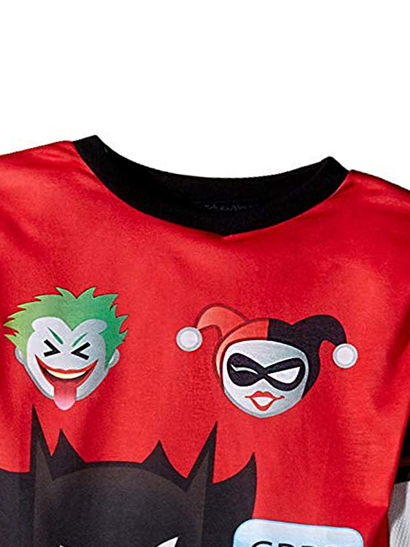Batman Emoji Big Boy's 2 piece Long Sleeve Pajamas Set