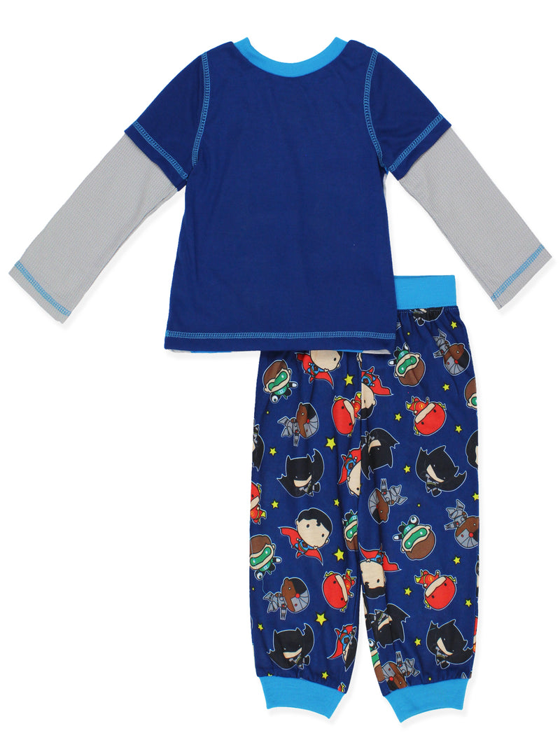 Justice League Pop Chibi Figure Toddler Boys Pajamas Set