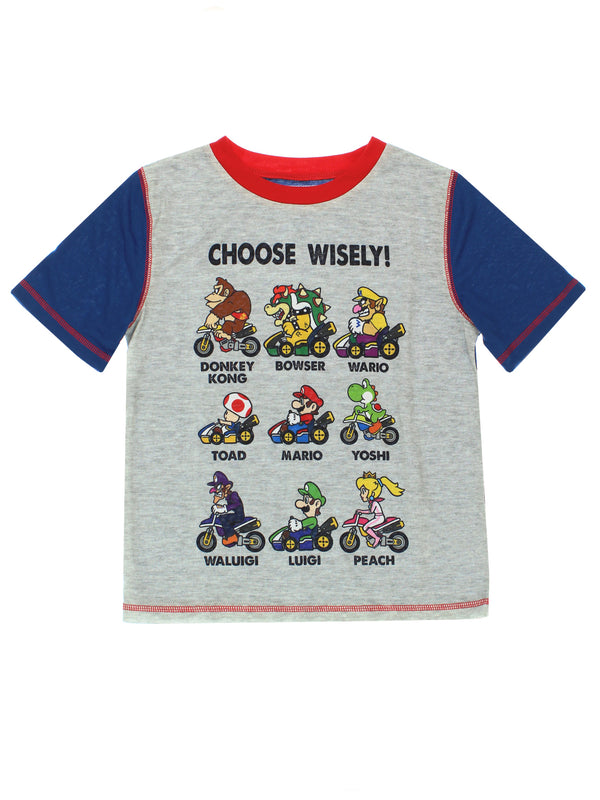 Super Mario Kart Boys 3 piece Shorts Pants Pajamas Set