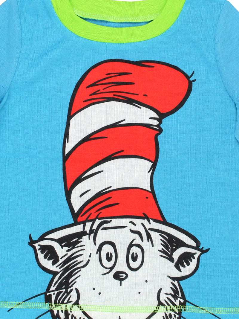 Dr. Seuss The Cat in the Hat Toddler Boys 2 piece Shorts and T-Shirt Pajamas Set