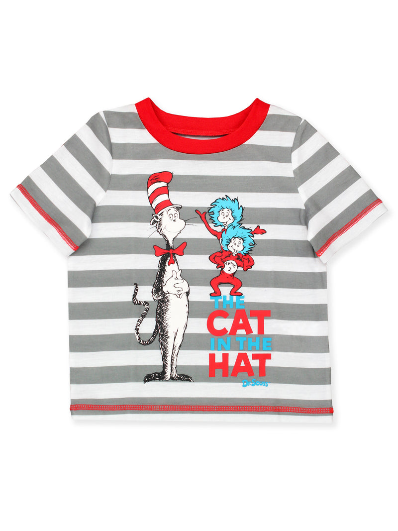Dr. Seuss The Cat in the Hat Toddler Boys 2 piece Short and Tee Pajamas Set