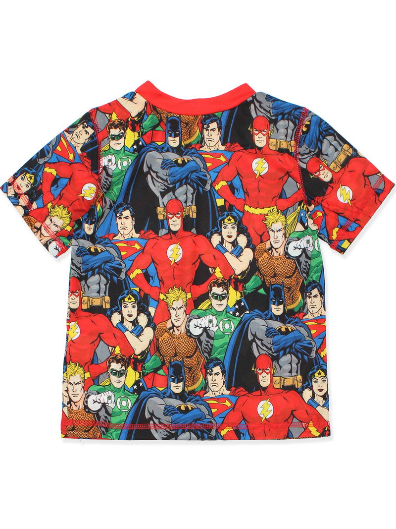 DC Comics Justice League Boy's Short Sleeve Top and Shorts Pajamas Set