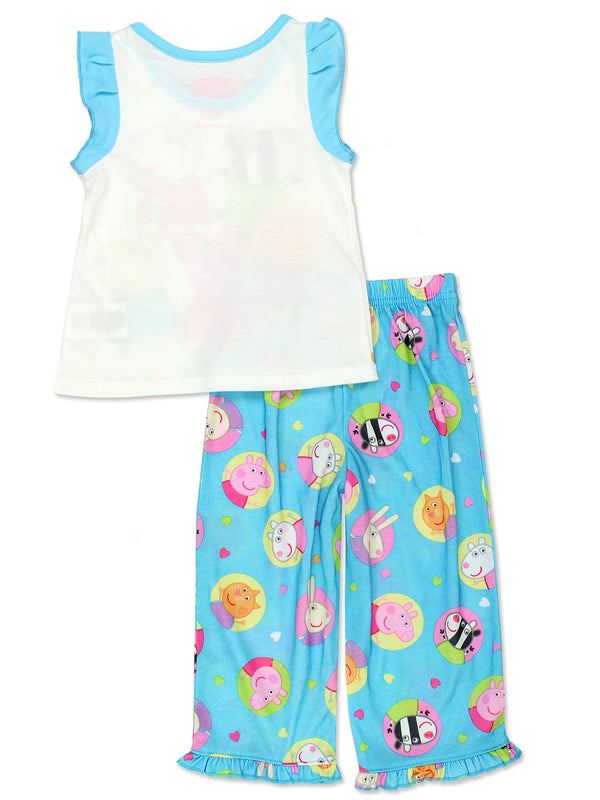 Peppa Pig Girls Toddler Soft Polyester Pajamas