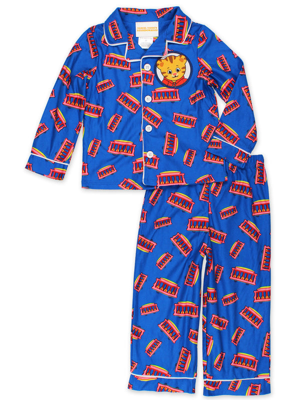 Daniel Tiger's Neighborhood Toddler Boys Flannel Coat Style Pajamas