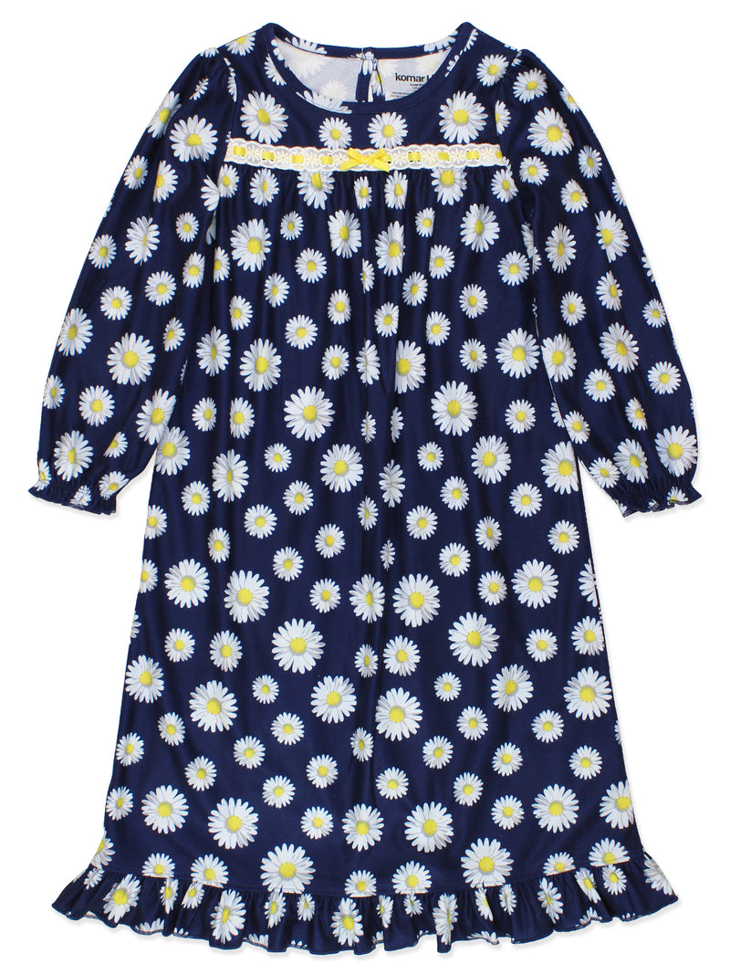 Komar Kids Daisy Flannel Toddler Granny Gown Nightgown