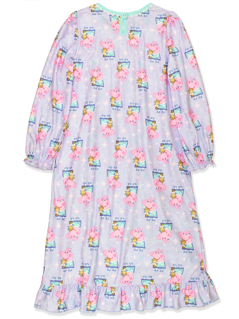 Peppa Pig Girls Flannel Granny Gown Nightgown Pajamas