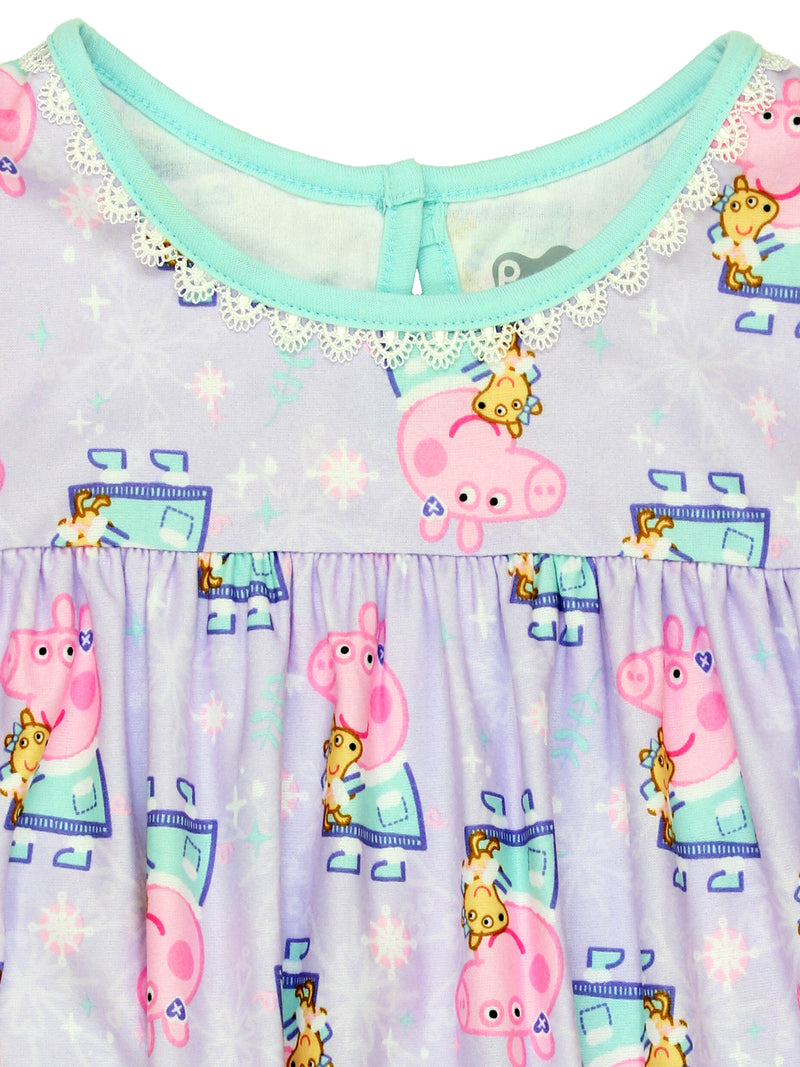 Peppa Pig Toddler Girls Flannel Granny Gown Nightgown Pajamas