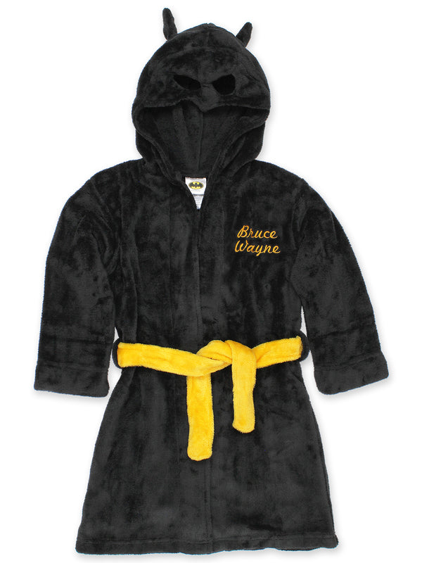 Batman Boys Fleece Hooded Bathrobe Robe